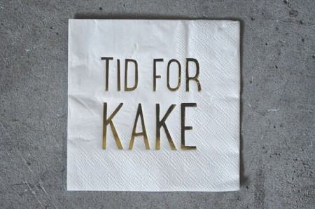 Serviett - Tid for kake, 25x25cm